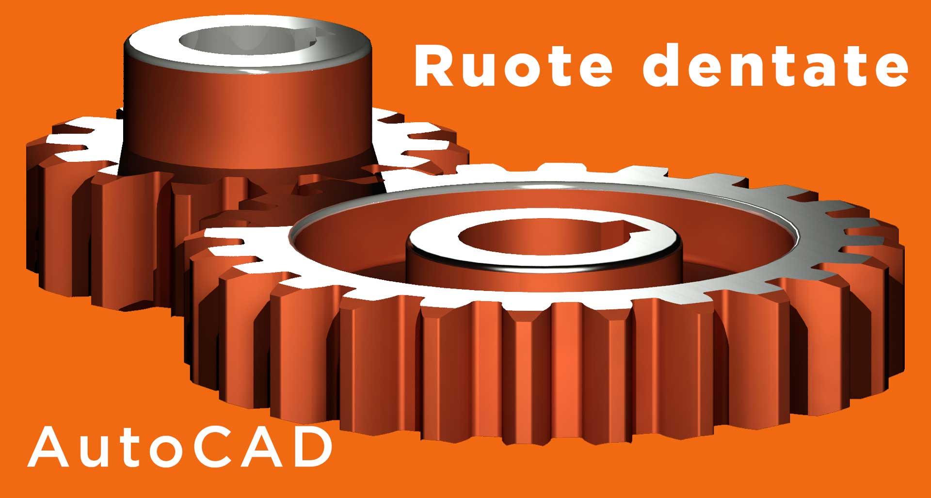 ruota-dentata-evolvente-3d Autocad