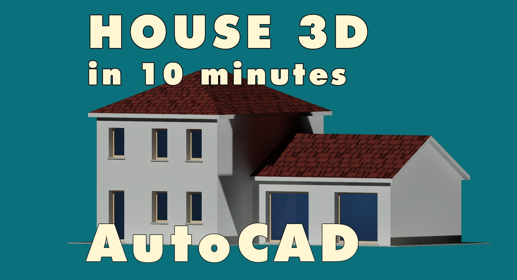 Casa 3D con Autocad