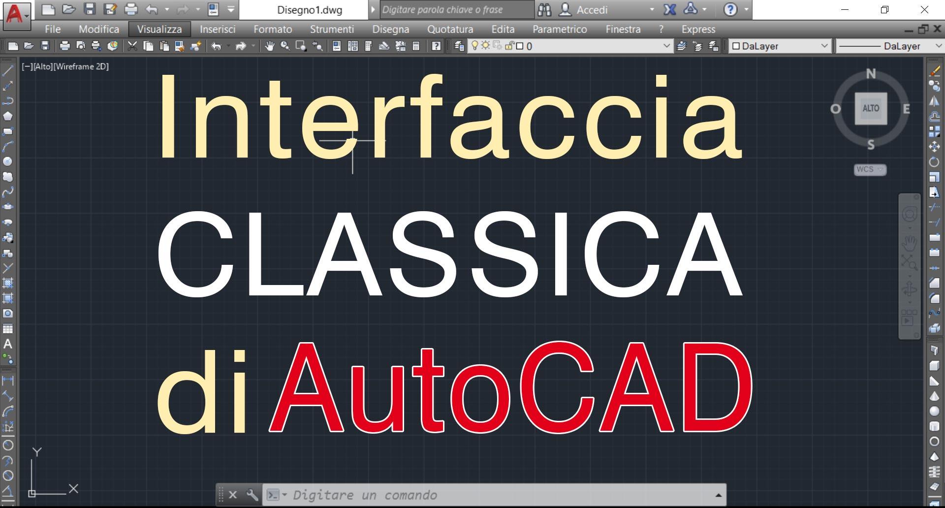 Interfaccia classica autocad