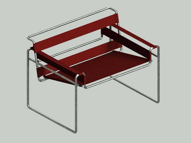 disegno sedia wassily